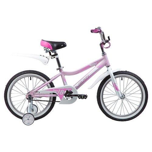 Детский велосипед Novatrack Novara 18 (2019) розовый (требует финальной сборки) детский велосипед novatrack vector 18 2019 серебристый требует финальной сборки