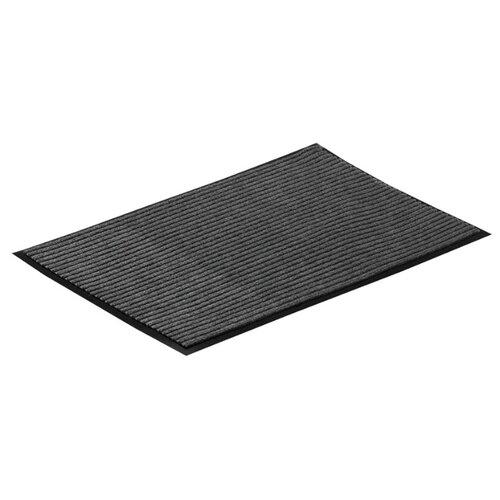 Придверный коврик VORTEX влаговпитывающий ребристый, размер: 0.8х0.5 м, 22081 серый