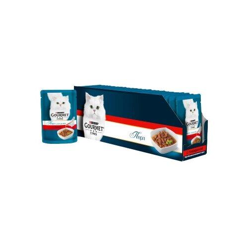 Корм для кошек Gourmet Перл Соус Де-люкс с говядиной 24шт. х 85 г (кусочки в соусе) корм для кошек gourmet перл с говядиной 24шт х 85 г кусочки в соусе