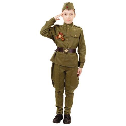 Костюм пуговка Солдат (2032 к-18), хаки, размер 122 по цене 1 651