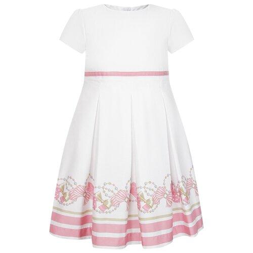 Купить Платье Mayoral размер 116, белый/розовый, Платья и сарафаны