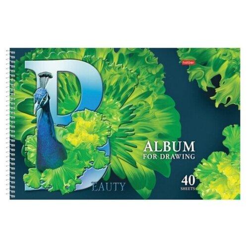 Купить Альбом для рисования Hatber Beautiful birds 29.7 х 21 см (A4), 100 г/м², 40 л., Альбомы для рисования