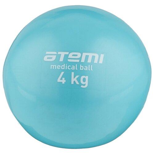 цена на Медбол ATEMI ATB04, 4 кг голубой
