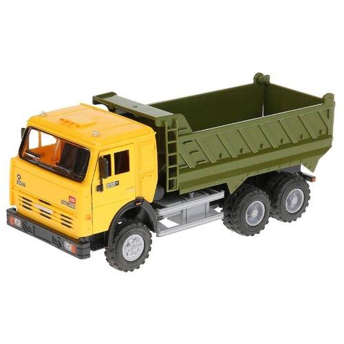 Грузовик Play Smart Автопарк 6520 (9099A/B/C/D) 1:16 24 см желтый/зеленый грузовик play smart автопарк урал аварийная служба 9464a 25 см оранжевый