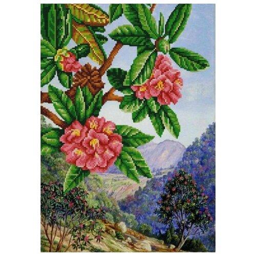Купить Экзотические цветы 1 (рис. на сатене 29х39) 29х39 Конек 9962, Конёк, Канва