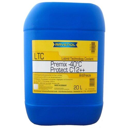 Антифриз Ravenol LTC - Protect C12++ Premix -40°C 20 л антифриз ravenol hjc hybrid japanese coolant premix 40°c готовый цвет зеленый 5 л