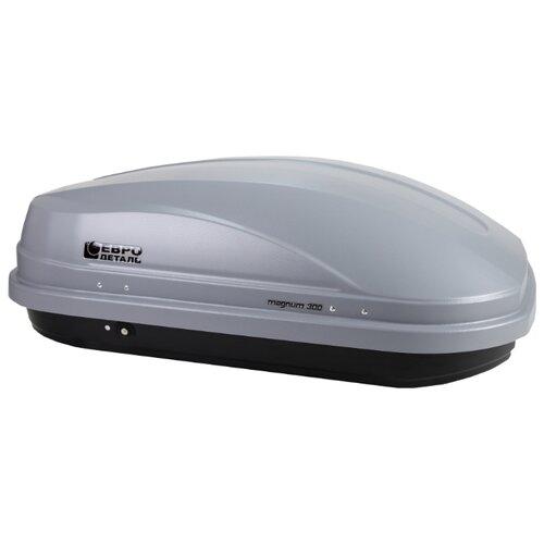Багажный бокс на крышу Евродеталь Магнум 300 (300 л) серый карбон