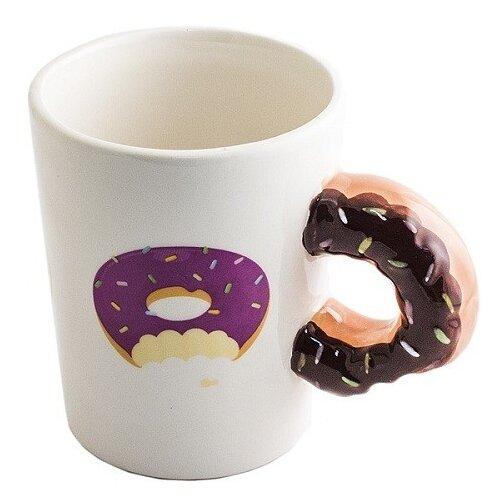 Фото - Кружка Пончик к чаю игрушка антистресс подушка эврика пончик n1 98762