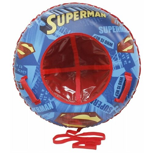 Тюбинг 1 TOY Супермен Т10468 синий/красный