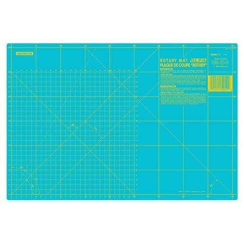 Купить Мат раскройный двусторонний, толщина 1, 6 мм, голубой, 45 х 30 см/18 х 12 Olfa RM-IC-C AQUA, Инструменты и аксессуары