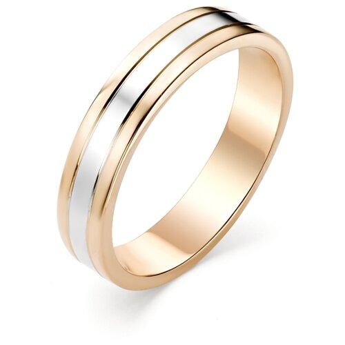 АЛЬКОР Кольцо из красного золота 1-00108, размер 20.5 фото
