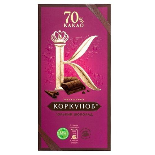 шоколад а коркунов горький с миндалем 55% 90 г Шоколад Коркунов горький 70%, 90 г
