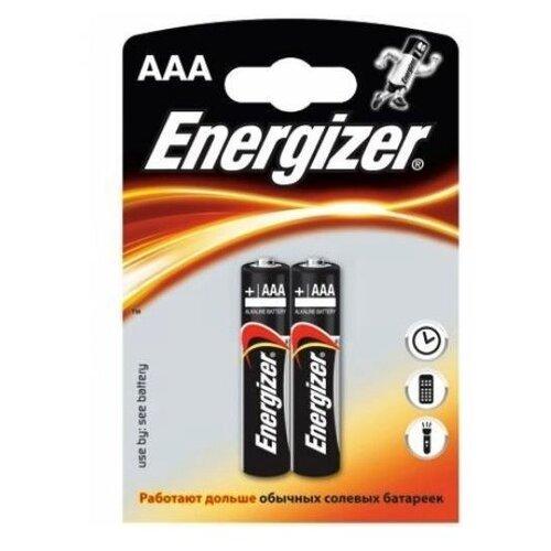 Фото - Батарейка AAA щелочная Energizer LR03-2BL MAX в блистере 2 шт. батарейка energizer max aaa lr03 алкалиновая 4bl