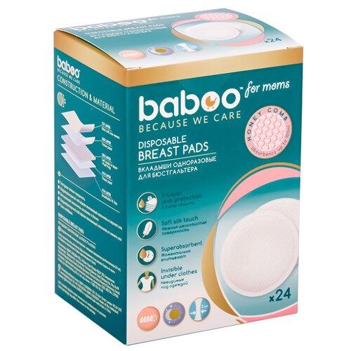 цена на Baboo Вкладыши одноразовые для бюстгальтера белый 24 шт.