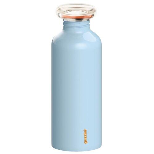 Бутылка для воды, для безалкогольных напитков Guzzini On the Go Everyday 0.65 металл, пластик matt blue