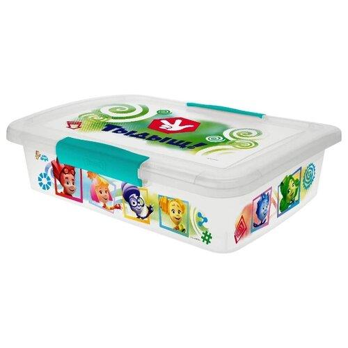 Купить Ящик детский с крышкой на защелках ФИКСИКИ, 5л Little Angel, Хранение игрушек