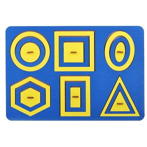 Купить Рамка-вкладыш TAU TOY Паутинка Монтессори, 18 дет. синий/желтый, Пазлы