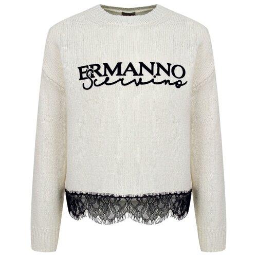 Купить Джемпер Ermanno Scervino размер 164, кремовый, Свитеры и кардиганы