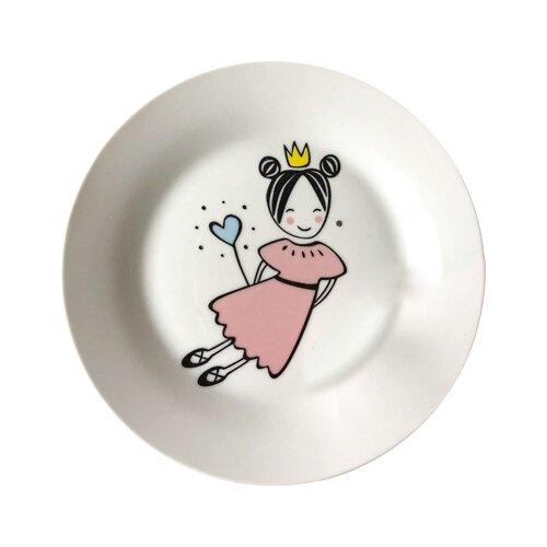 Фото - Сотвори Чудо Тарелка Маленькая королева 20 см белый/розовый тарелка сотвори чудо линия 20 см белый