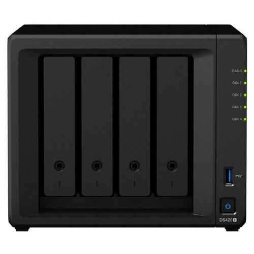 Сетевое хранилище Synology DS420+ черный