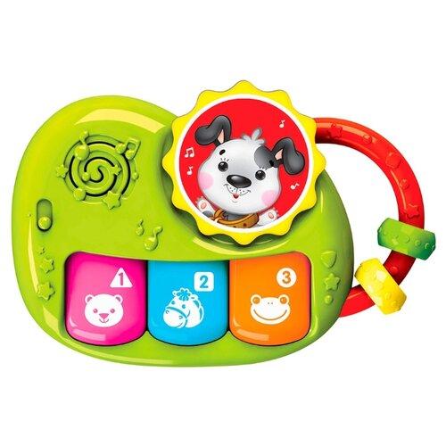 Развивающая игрушка Азбукварик Щенок Пианино Чудесенка зеленый