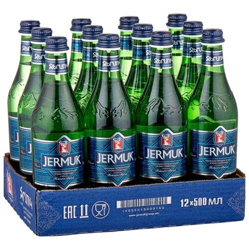 Минеральная природная вода Jermuk газированная, стекло, 12 шт. по 0.5 л минеральная природная вода jermuk газированная алюминиевая банка 12 шт по 0 33 л