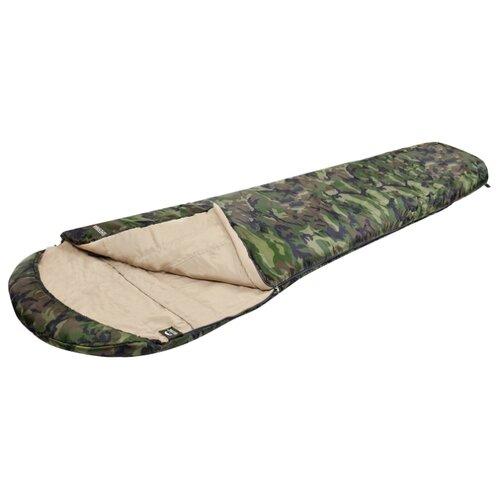 Спальный мешок Jungle Camp Fisherman камуфляж с левой стороны