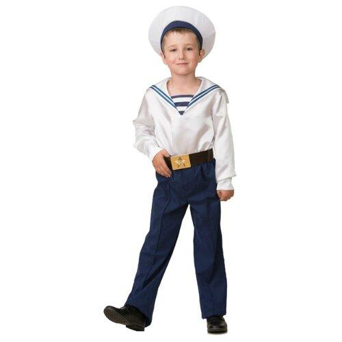 Купить Костюм Батик Матрос парадный с фуражкой (5703), белый/синий, размер 146, Карнавальные костюмы