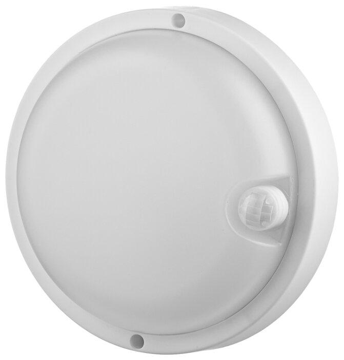 Светодиодный LED светильник герметичный LLT СПП-Д 2303 12Вт 230В 4000К 960Лм 158мм с датчиком движения круг IP65 4690612013688