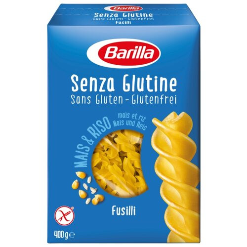 Barilla Макароны Senza Glutine Fusilli без глютена, 400 г здоровей макароны алфавит без глютена 400 г