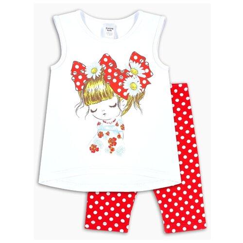 Комплект одежды Веселый Малыш размер 98, белый/красный набор ермак 662 005 древесный красный