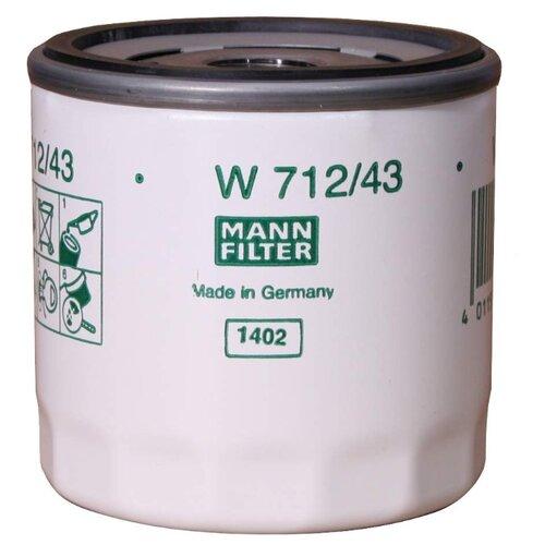 Масляный фильтр MANNFILTER W 712/43 масляный фильтр mannfilter w 712 4