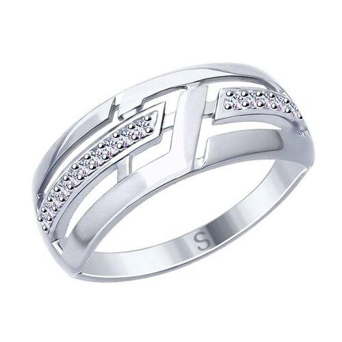 SOKOLOV Кольцо из серебра с фианитами 94012614, размер 18