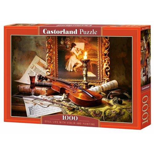 Купить Пазл Castorland Still Life with Violin and Painting (C-103621), 1000 дет., Пазлы