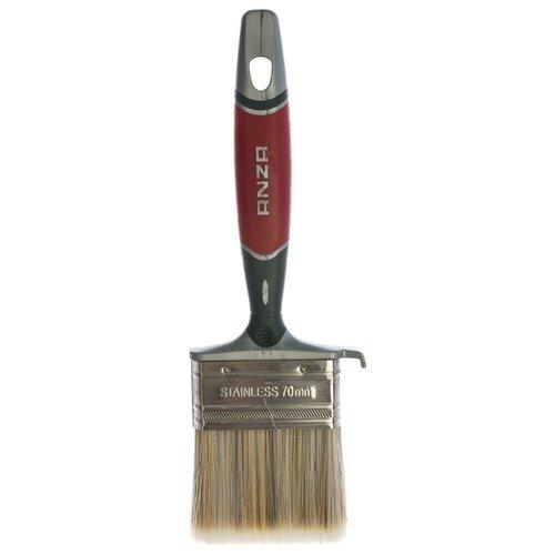 Кисть ANZA 150470, 70 мм, красный/серебристый плоская кисть anza platinum 50 мм 149550