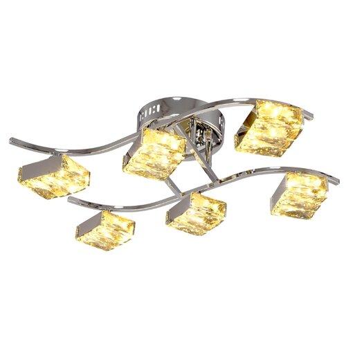 Люстра светодиодная Максисвет Геометрия 1-1663-6-CR Y LED, LED, 48 Вт подвесная люстра максисвет 3011 2 3011 6 cr wa e14