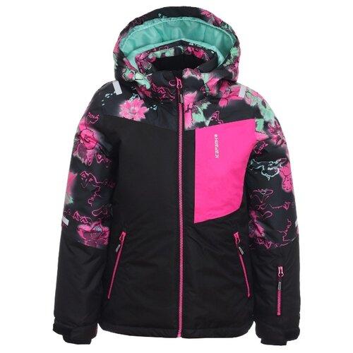 Куртка ICEPEAK 450032593IV размер 140, 990 черный/розовый