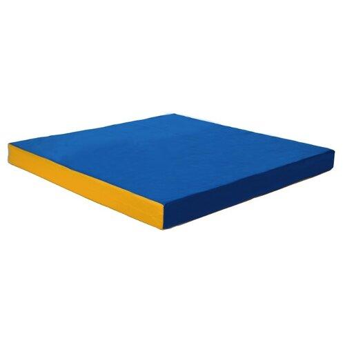 Спортивный мат 1000х1000х100 мм КМС № 2 синий/желтый