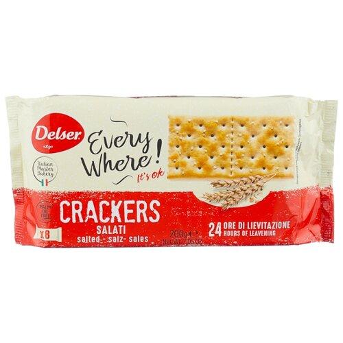 Крекеры Delser Crackers Salato Крекеры с солью, 200 г