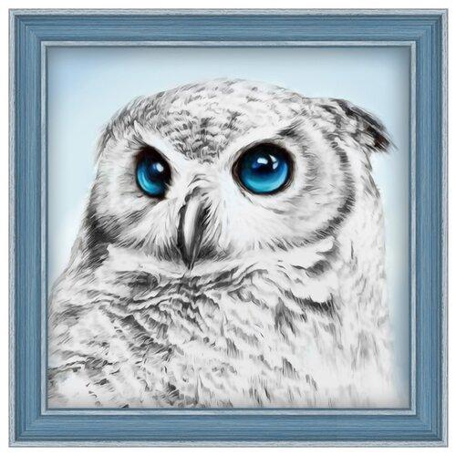 Алмазная живопись Набор алмазной вышивки Взгляд совы (АЖ-1549) 25х25 см