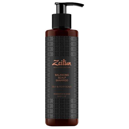 Zeitun шампунь Balancing Scalp балансирующий для мужчин с шалфеем и розовым деревом от перхоти, 250 мл