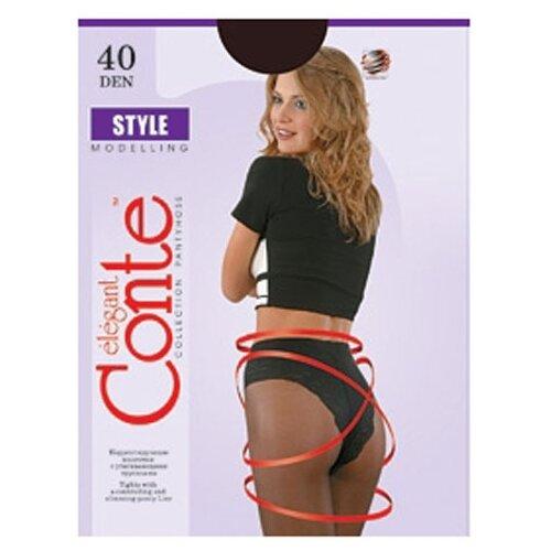 Фото - Колготки Conte Elegant Style Modelling 40 den, размер 2, nero (черный) колготки conte elegant solo 40 den размер 3 nero черный