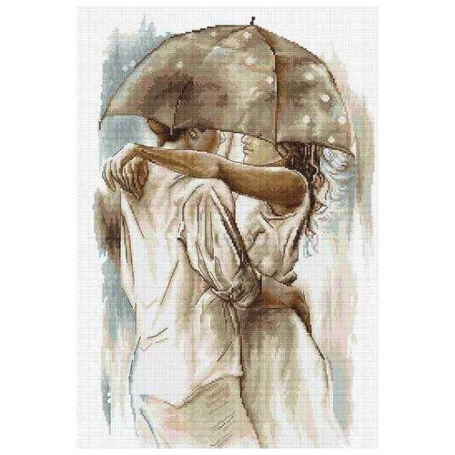 Купить Luca-S Набор для вышивания Под зонтом сепия, 24 х 37 см, B2293, Наборы для вышивания