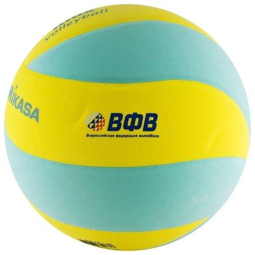 Волейбольный мяч Mikasa SKV5 зелено-желтый мяч волейбольный mikasa mva300 синий желтый размер 5