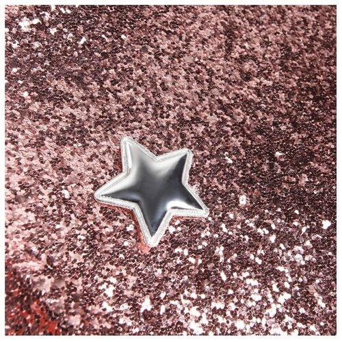 Кожа искусственная Арт Узор для пэчворка с крупными блестками 350 г/м, 70 x 50 см сладкая вата