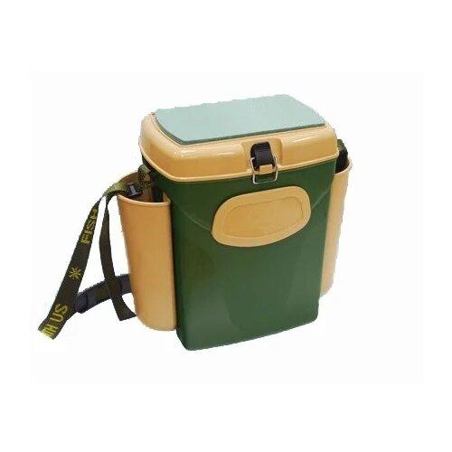 Ящик для рыбалки A-Elita A-Sport 17х25х35см зеленый/желтый