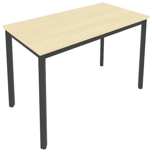 Письменный стол Рива Slim С.СП, ШхГ: 118х60 см, цвет: металл антрацит/клён