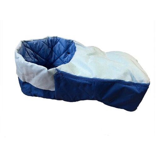 Купить Матрасик для санок RT с раздельной попоной на молнии, (синий), Санки и аксессуары