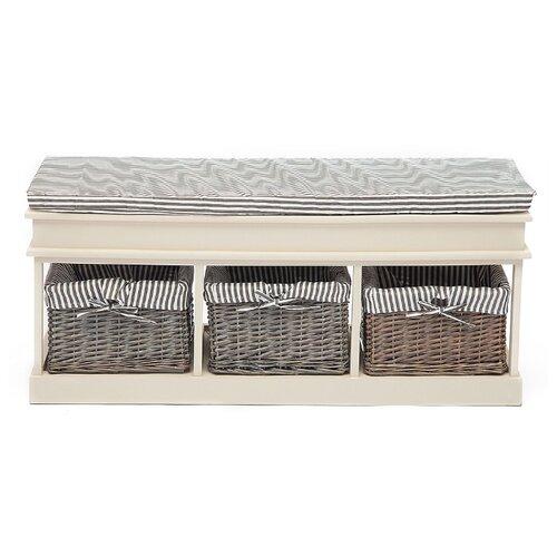 Обувница TetChair Secret De Maison Seige SH-82301 , размер (ШхГ): 110х35 см , цвет: белый/серый