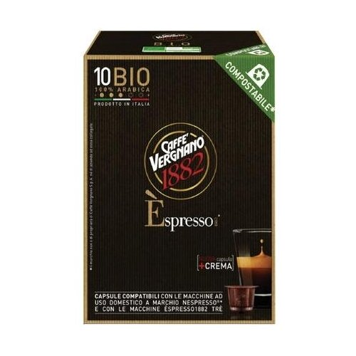 Фото - Кофе в капсулах Caffe Vergnano 1982 Espresso Bio, 10 капс. кофе молотый caffe vergnano 1882 espresso casa 250 г